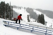 There are six terrain parks to suit freestyle skiers and snowboarders of all abilities.