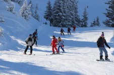 Intermediate skiers can increase their confidence on La Tania's gentle blue runs and with help from its ski school coaching