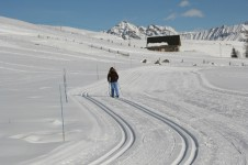 Cross country skiing in La Toussuire