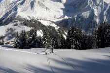 Glide through the snow on Les Houches' cross country trails and take in the breathe taking mountain scenery