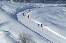 Cross country skiing in Les Menuires