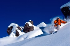 Powder skiing in Les Menuires
