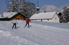 Cross country skiing in Megève