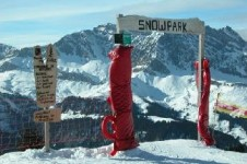Try one of the snowparks in a neighbouring resort such as La Giettaz