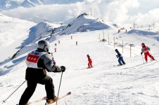 Beginner skiing in Alpe d'Huez
