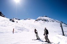 Skiing in Les Arcs above Peisey - Vallandry