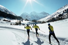 For a change from alpine skiing check out the long open cross country tracks that run through Davos