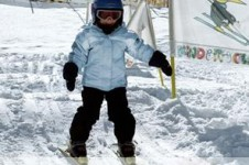 The Swiss Ski School provide great beginner lessons on easy learning nursery slopes