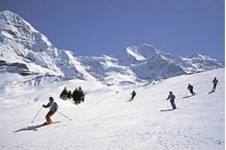 Grindelwald is a classic ski area for intermediate skiers and snowboarders