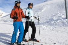 Once reaching St Moritz nursery slopes, beginners have great learning facilities
