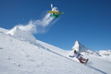 Zermatt offers snowboarders an extensive free ride area as well as a terrain park up on the glacier