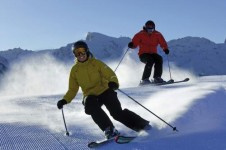 Intermediates can enjoy Engelberg's groomed blue and red runs