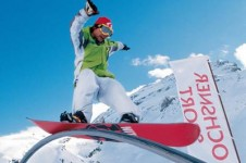 Check out the features in Engelberg's  Jochpass snowpark