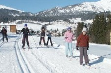 Cross country skiing is popular in Laax- explore its many trails in the day time and at night!