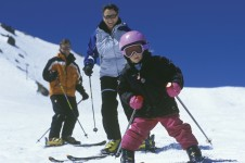 Mammoth Mountain has lots of easy runs for beginners to gather confidence.