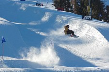 Mammoth challenges some of the best resorts in the world for snowboarding with 7 parks and 3 half-pipes.
