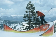 Although the terrain park is fairly new at Squaw valley, its freestyle skiing and snowboarding roots run deep.