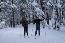 Take a glide along the cross country ski tracks in the snowy Steamboat forests
