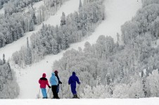 Steamboat offers a variety of intermediate terrain with excellent gladed tree runs, easy off-piste bowls and long cruisy trails