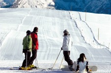 Lots of open easy pistes ideal for learning to ski in Flaine
