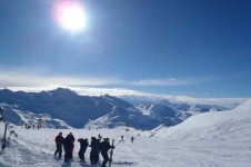 La Plagne is ideal for intermediates with 110 blue and red runs; Copyright: A Plagne's gentle home runs for intermediates and confident beginners