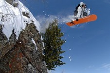 Montgenevre is great for snowboarders with a half pipe and a snow park