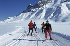 Absorb the fresh mountain fresh air and scenery on a cross country ski expedition around Adelboden