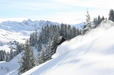 Some great terrain in Les Gets for advanced skiers with pitches of up to 47%
