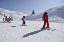 Learning to Ski at Champagny-en-Vanoise, France; Copyright: Champagny-en-Vanoise Tourist Office