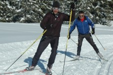 There are trails available but Leysin is not hugely focused on Nordic skiing