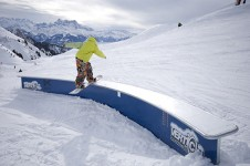Leysin has a great reputation for freestyle skiing and snowboarding