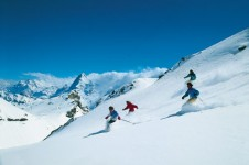 Intermediate Skiing in Murren, Switzerland