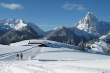 Gstaad gets 5 stars for cross-country skiing from us with nearly 120km of trails.