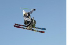Freestyle skiier in Les Arcs