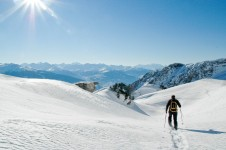 The glacier offers high altitude cross-country skiing and there are various trails in and around Crans Montana