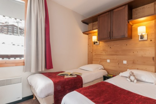 Bedroom in Residence Le Quartz – Belle Plagne