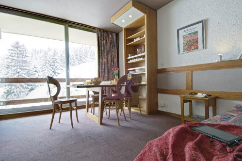 Living room and balcony-Les Grangettes-Courchevel-France