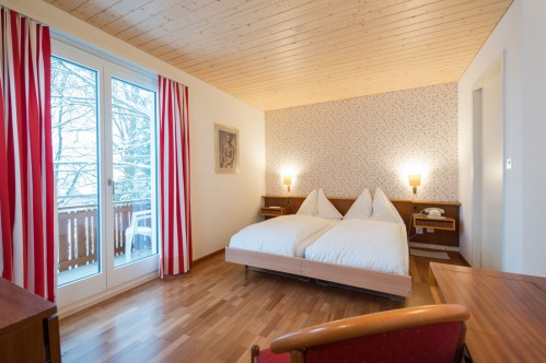 A Standard Double or Twin Room in the Hotel Berghaus - Wengen