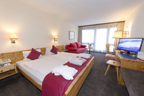 A Standard Double Room - Central Sporthotel - Davos - Switzerland