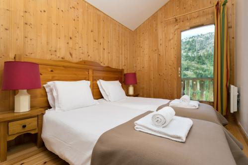 Example of double room in Les Chalets d'Isola, Isola 2000