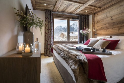 Bedroom at Le Cristal de Jade Chamonix