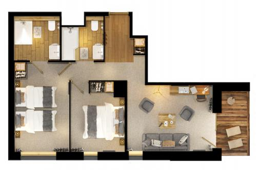 Floor plan Junior Suite L'Avancher