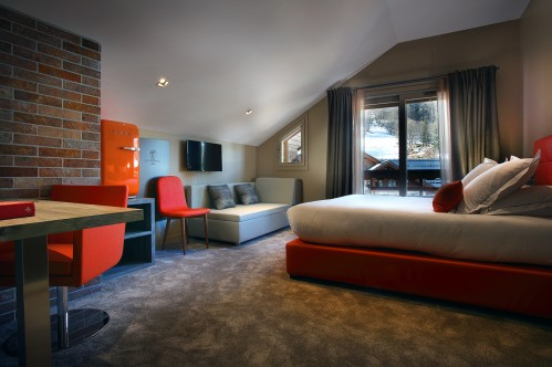 Premium triple room; Copyright: Hotel le Tremplin Meribel