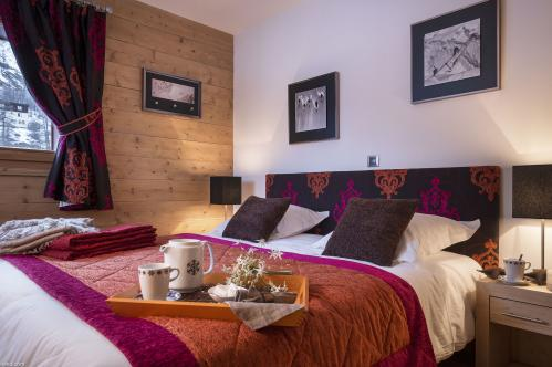 Bedroom Gold apartment Residence Kalinda Tignes CGH