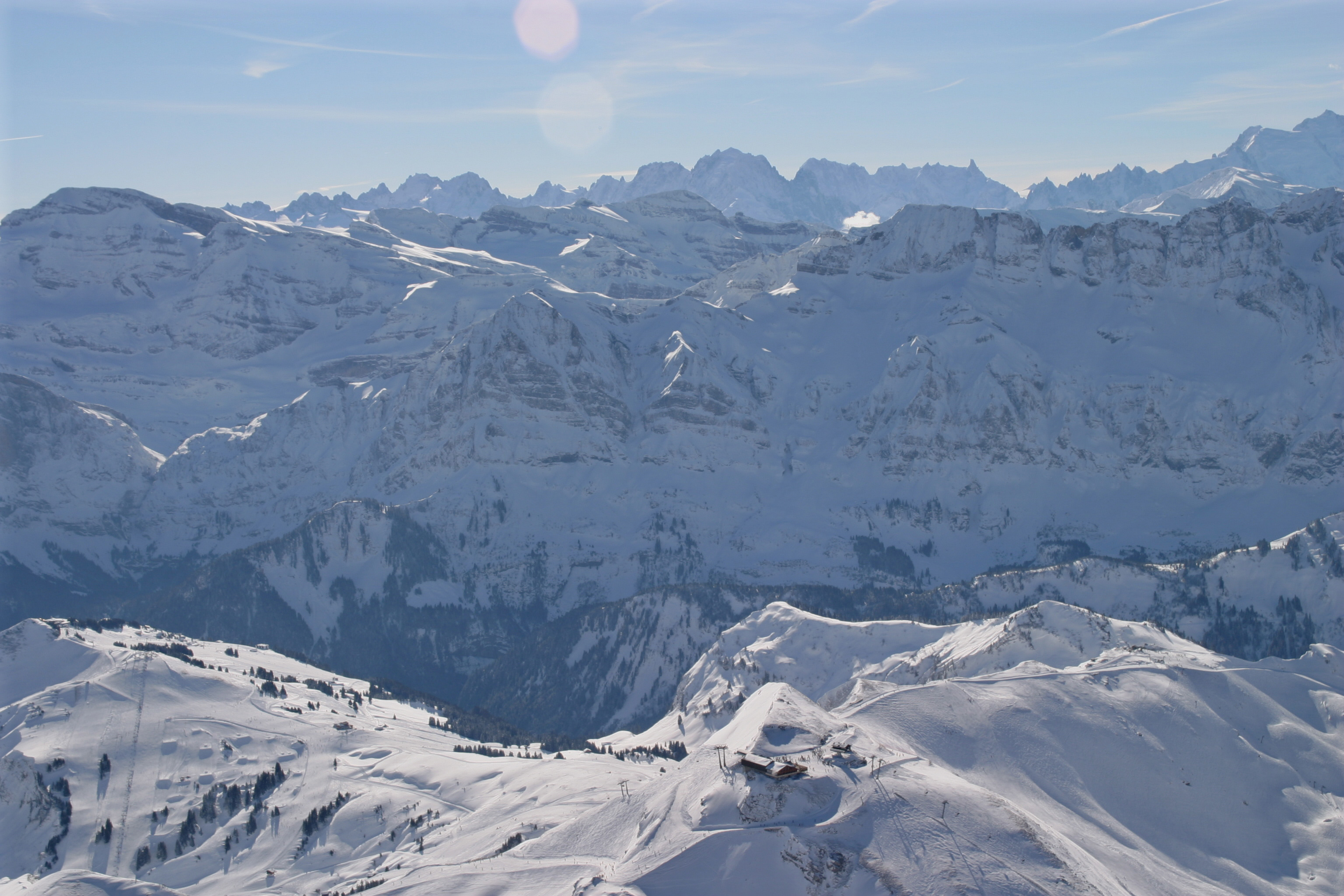 The top of Les Hauts Forts in Avoriaz