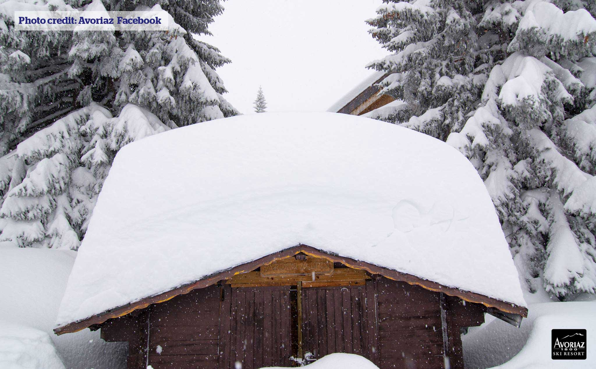 Snowy roof in Avoriaz