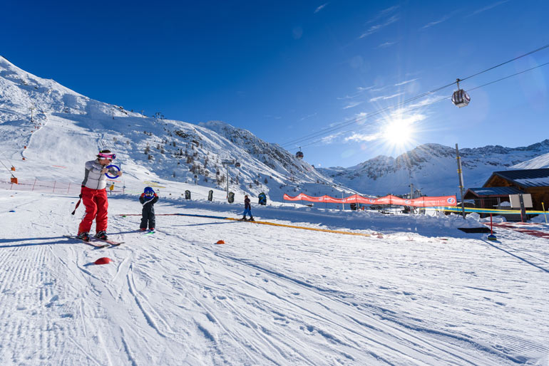 Beginners area in Tignes