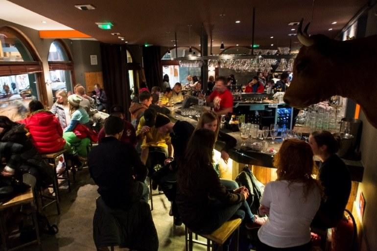 Apres ski in Chamonix bar