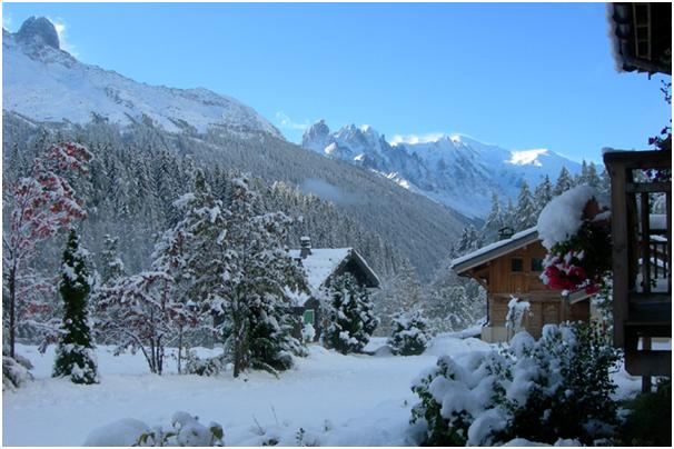 Fresh snow in Chamonix