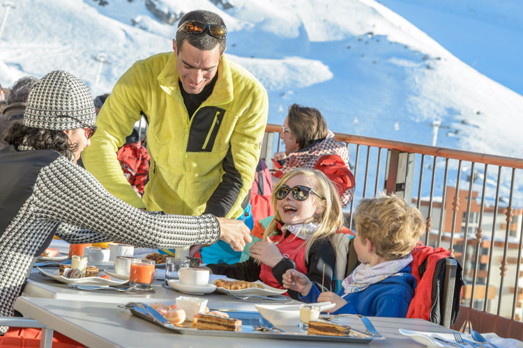 Family friendly food choices in Val Thorens